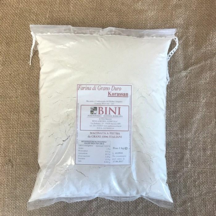 FAR002 - Farina di grano duro Korassan - PRODOTTI AGRITURISMO BINI