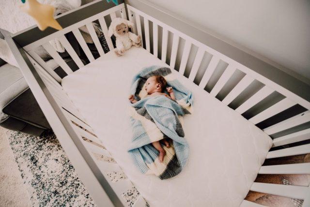 baby on the crib