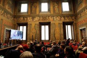 AgroNetwork News - La sala del convegno, ospitato da Confagricoltura a palazzo Valle di Roma.