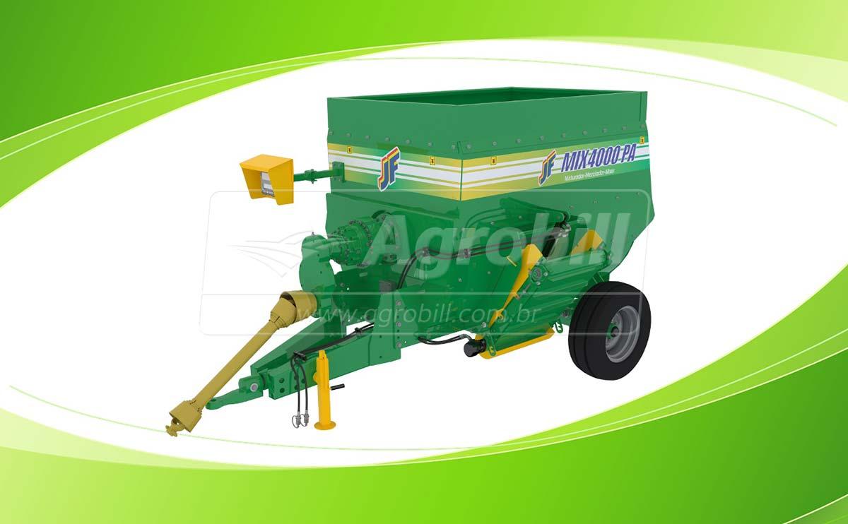 Vagão Misturador JF Mix 4000 PA / sem Balança / sem Desensilador > Novo - Vagão Misturador - JF - Agrobill - Tratores, Implementos Agrícolas, Pneus