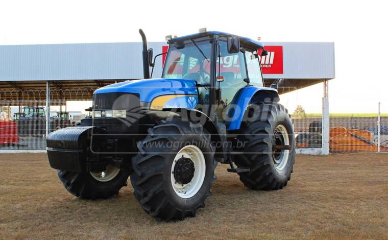 Trator New Holland TM 7040 SPS 4×4 ano 2013 com 1554 horas - Tratores - New Holland - Agrobill - Tratores, Implementos Agrícolas, Pneus