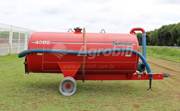 Tanque Agrícola Lobular / Chorumeira 4000 L / sem Pneus – São José > Novo - Tanque de Água - São José - Agrobill - Tratores, Implementos Agrícolas, Pneus