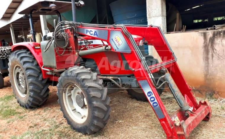 Trator Massey 4275 4×4 ano 2015 com Creeper ( redutor velocidade ) e Plaina Tatu SHT com 1061 horas - Tratores - Massey Ferguson - Agrobill - Tratores, Implementos Agrícolas, Pneus