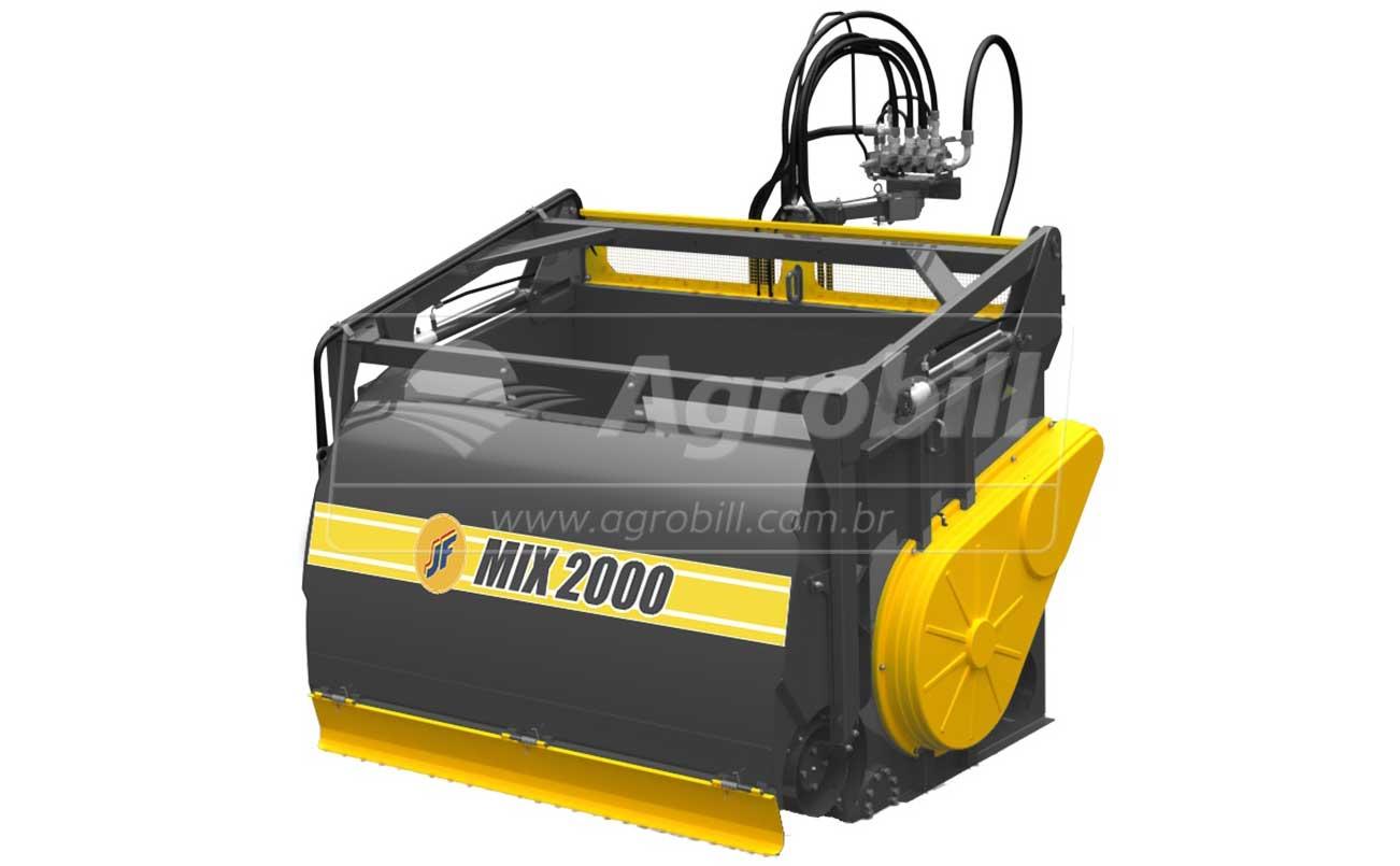 Vagão Misturador JF Mix 2000 INOX / sem Rodas > Novo - Vagão Misturador - JF - Agrobill - Tratores, Implementos Agrícolas, Pneus