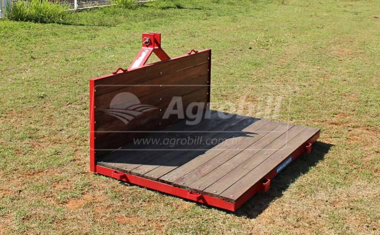 Plataforma Traseira de Madeira 1,75 x 1,00 m – ACJ > Nova - Plataforma Traseira - ACJ - Agrobill - Tratores, Implementos Agrícolas, Pneus