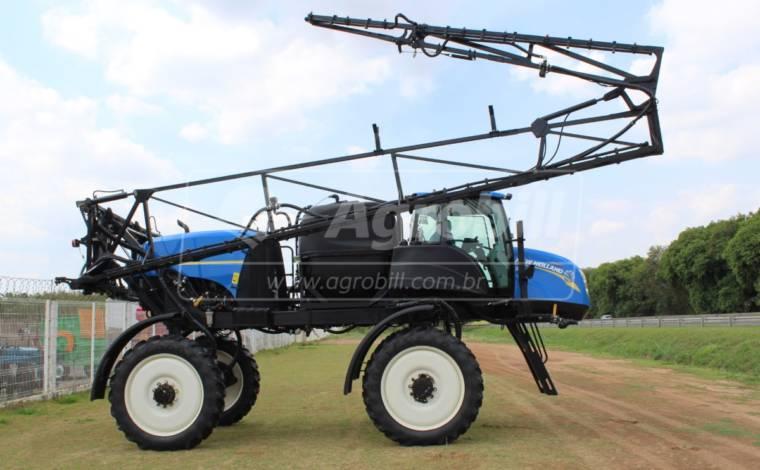 Pulverizador New Holland SP 2500 4×4 ano 2014 c/ 1690 horas c/ Piloto e Gps com 27 metros de barras - Tratores - New Holland - Agrobill - Tratores, Implementos Agrícolas, Pneus