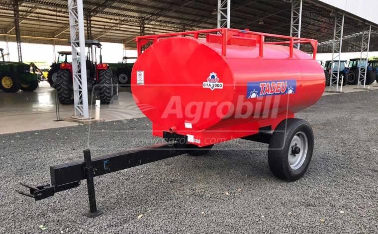Tanque de Água 2.000 Litros / Rodado Simples / sem Pneus – Tadeu > Novo - Tanque de Água - Tadeu - Agrobill - Tratores, Implementos Agrícolas, Pneus