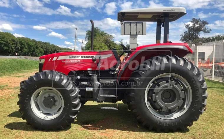Trator Massey 4290 TURBO 4×4 ano 2017 c/ Creeper ( Redutor de Velocidade ) - Tratores - Massey Ferguson - Agrobill - Tratores, Implementos Agrícolas, Pneus