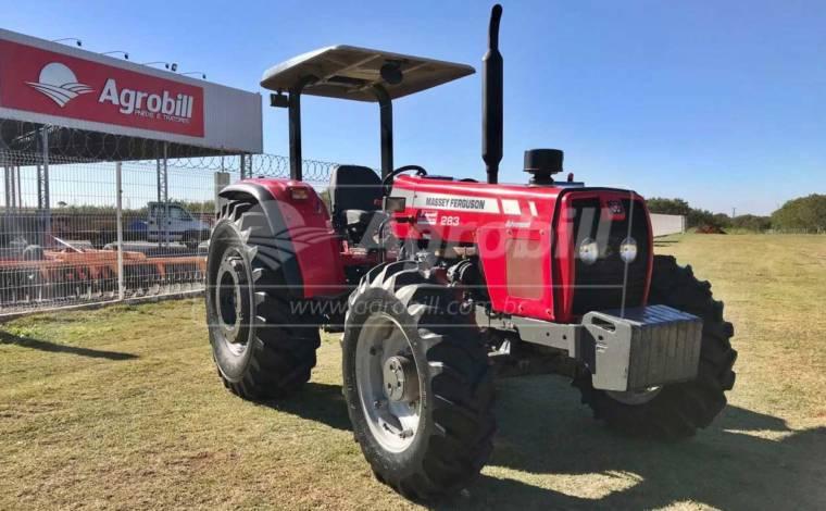 Trator Massey 283 4×4 Advanced ano 2009 cambio 3 alavancas - Tratores - Massey Ferguson - Agrobill - Tratores, Implementos Agrícolas, Pneus