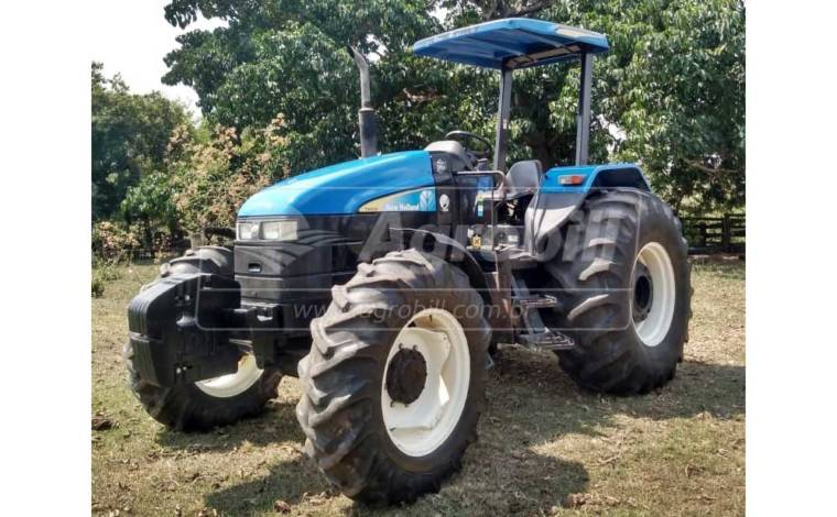Trator New Holland 6020 4×4 ano 2009 com 1140 horas - Tratores - New Holland - Agrobill - Tratores, Implementos Agrícolas, Pneus