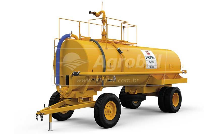 Carreta Tanque Combate Incêndio 12500L / 2 Eixos Simples + Duplo / Sem Pneus – Mepel > Novo - Tanque de Água - Mepel - Agrobill - Tratores, Implementos Agrícolas, Pneus