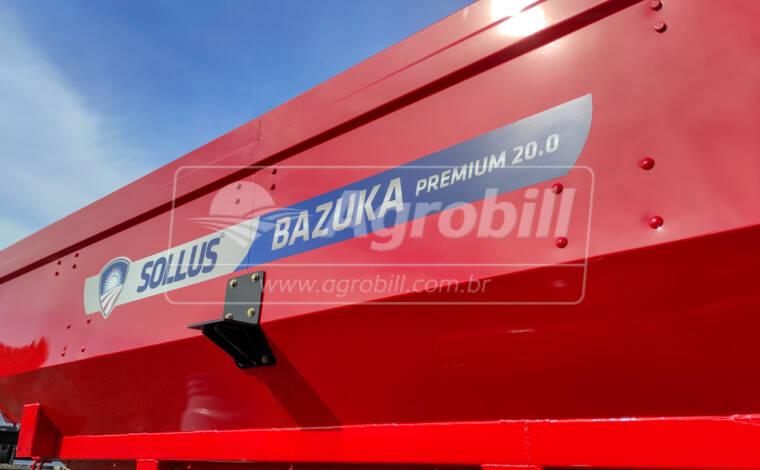 Carreta Graneleira / Abastecedora de Fertilizantes Bazuka Premium Multiuso 20.0 / Rodas 20 x 30 / 2 Eixos / sem Pneus – Sollus > Nova - Carreta Agrícola Graneleira / Bazuka / Transportadora de Grãos / Multiuso - Sollus - Agrobill - Tratores, Implementos Agrícolas, Pneus