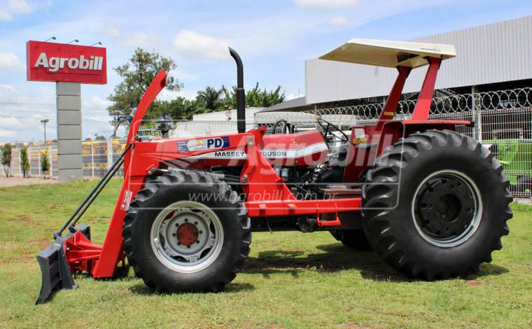 Trator MF 296 4×4 usado ano 1987 com conjunto de Lâmina Tatu SHT - Tratores - Massey Ferguson - Agrobill - Tratores, Implementos Agrícolas, Pneus