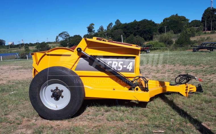 Scraper CRS 4 m³ com Rodas Laterais – Agrimec > Novo - Scraper Raspadeira Agrícola controle remoto. - Agrimec - Agrobill - Tratores, Implementos Agrícolas, Pneus