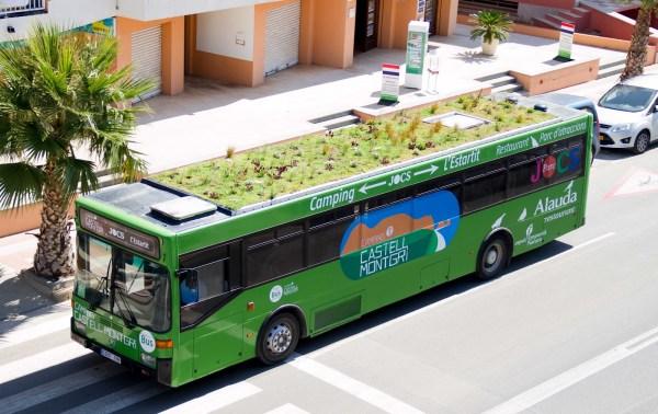 Autobús con plantas Phytokinetic