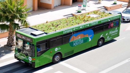 Primer autobús con cubierta vegetal. Proyecto Phytokinetic.