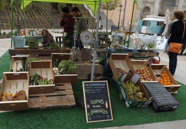"""La """"pequeña tienda"""" en la feria de Productos Ecológicos La Candela"""