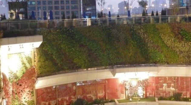 Jardín vertical en el K11 de Shangai