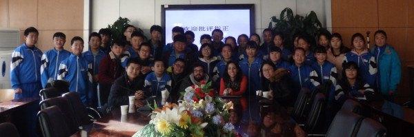Visitando un huerto escolar en Pekin