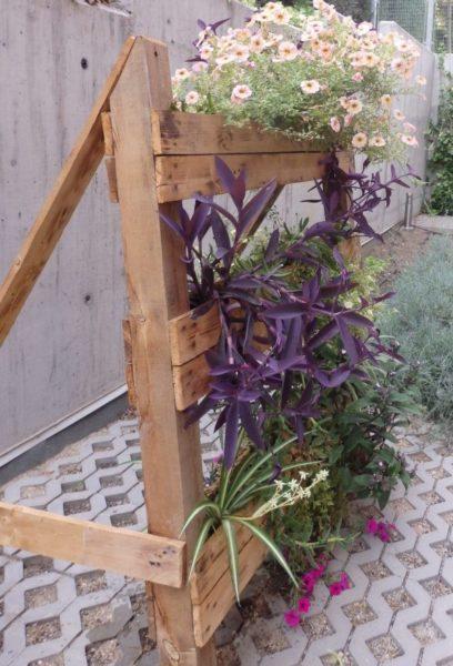 reciclar palés para cultivar en casa