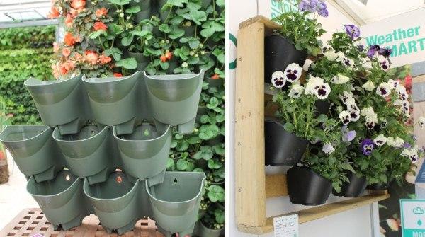 cultivo vertical para el huerto en casa en poco espacio