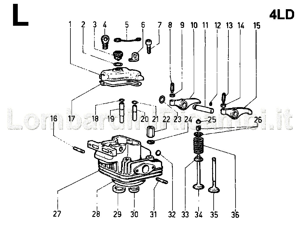 Cylinder Head Rocker Arm Box Valves Ricambi Agricoli