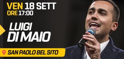 Chiusura campagna elettorale, il Ministro Di Maio a San Paolo Bel Sito