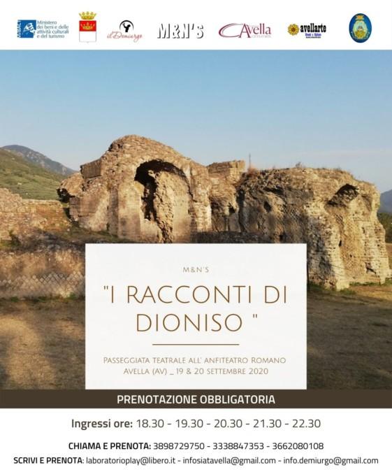 """Teatro itinerante ad Avella con """"i racconti di Dioniso"""""""