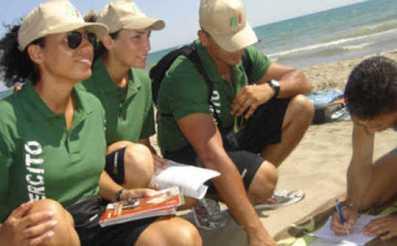 esercito spiaggia