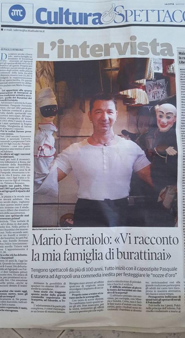MARIO FERRAIOLO GIORNALE