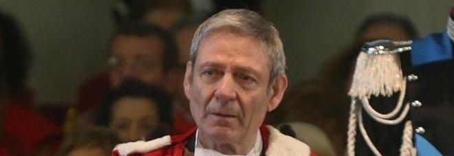 Giovanni Canzio, presidente della Corte d'Appello di Milano, durante l'inaugurazione dell'anno giudiziario, a Milano, il 24 gennaio 2015.  ANSA / MATTEO BAZZI
