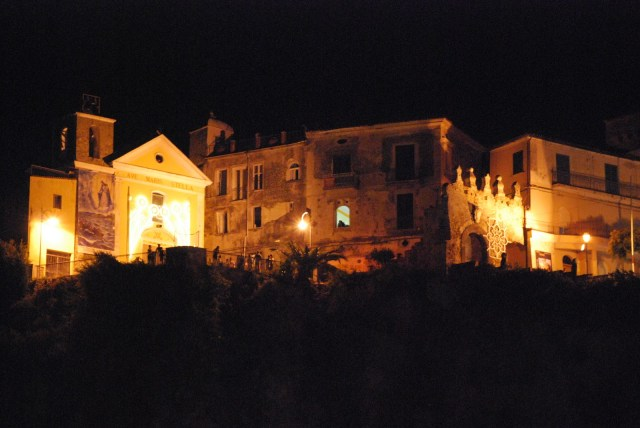chiesa nozze agropoli di notte