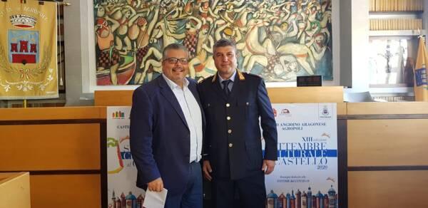 Sindaco Adamo Coppola e il neo comandante Sergio Cauceglia