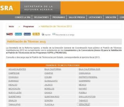Tecnicos habilitados Fappa y Promusag 2013