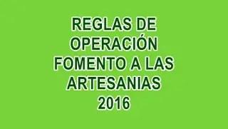 Reglas de Operación FONART 2016