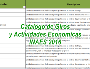 catalogo de giros INAES