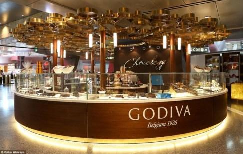 Godiva stand - Doha