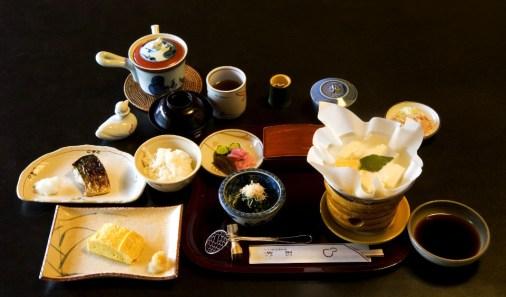 Japan food, Ryokan, Traditional Breakfast