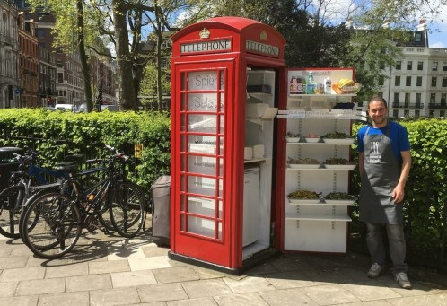 Phone Booth Salad Bar - London