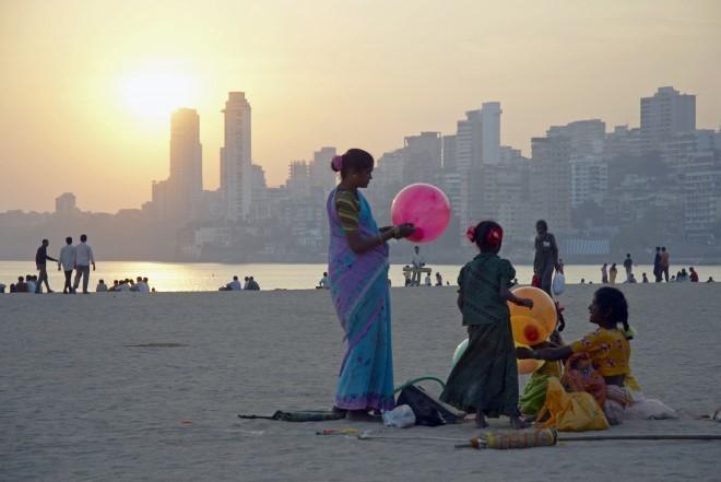 Chowpatty Beach, India