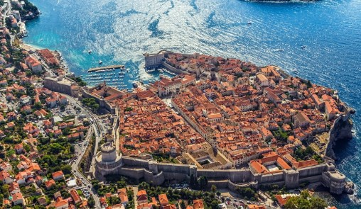 Dubrovnik's old town from the air