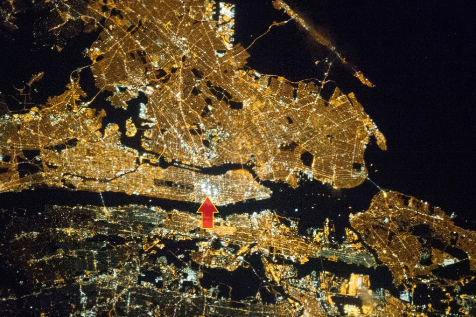 New York from Space, Times Square