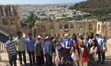 Huroof Cultural Center members on an excursion organized by the club