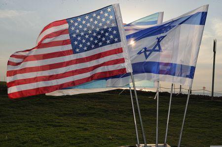 """דגלי ישראל וארה""""ב (ויקימדיה)"""