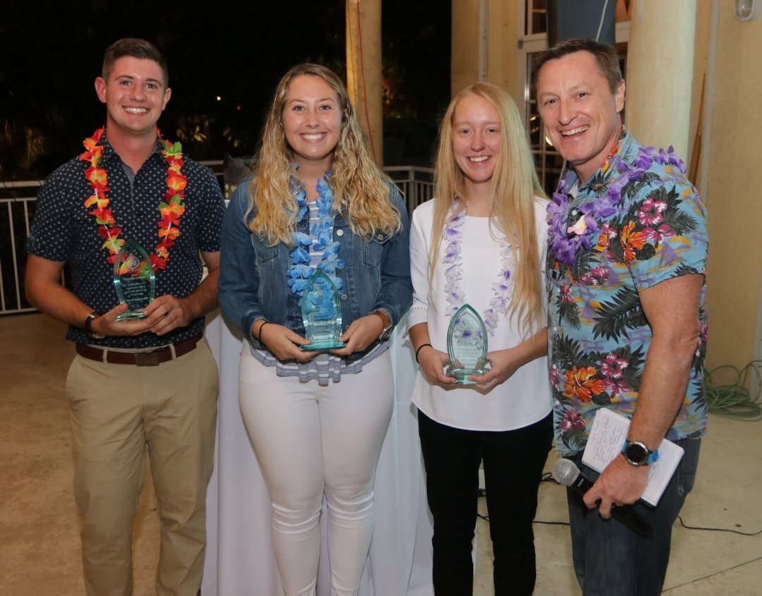 Members of the Palm Beach Atlantic Sailing Team members Honored - Photo by Mike Jachles