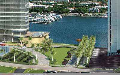Renderings of public path around the 1112 S. Flagler Drive Condo released