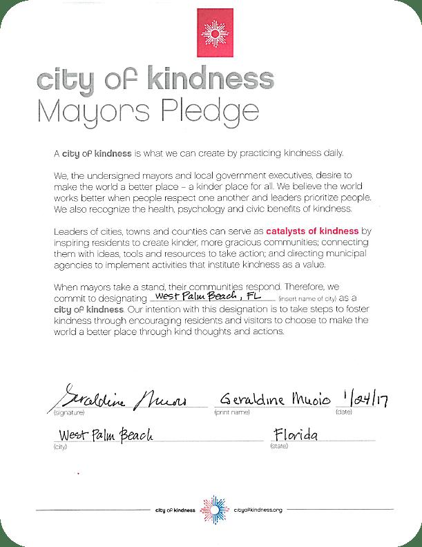 50 Ways to spread Kindness in West Palm Beach
