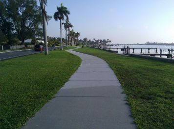 If you don't want to drive on the road you can take the winding lakeside path