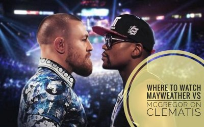 Where to watch Mayweather VS McGregor fight on Clematis
