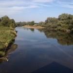 28a-Dessau-Rosslau Muldeaaue Plankenlinie Blick Von Jagdbrücke Muldeabwärts Nach Nordwesten (1)